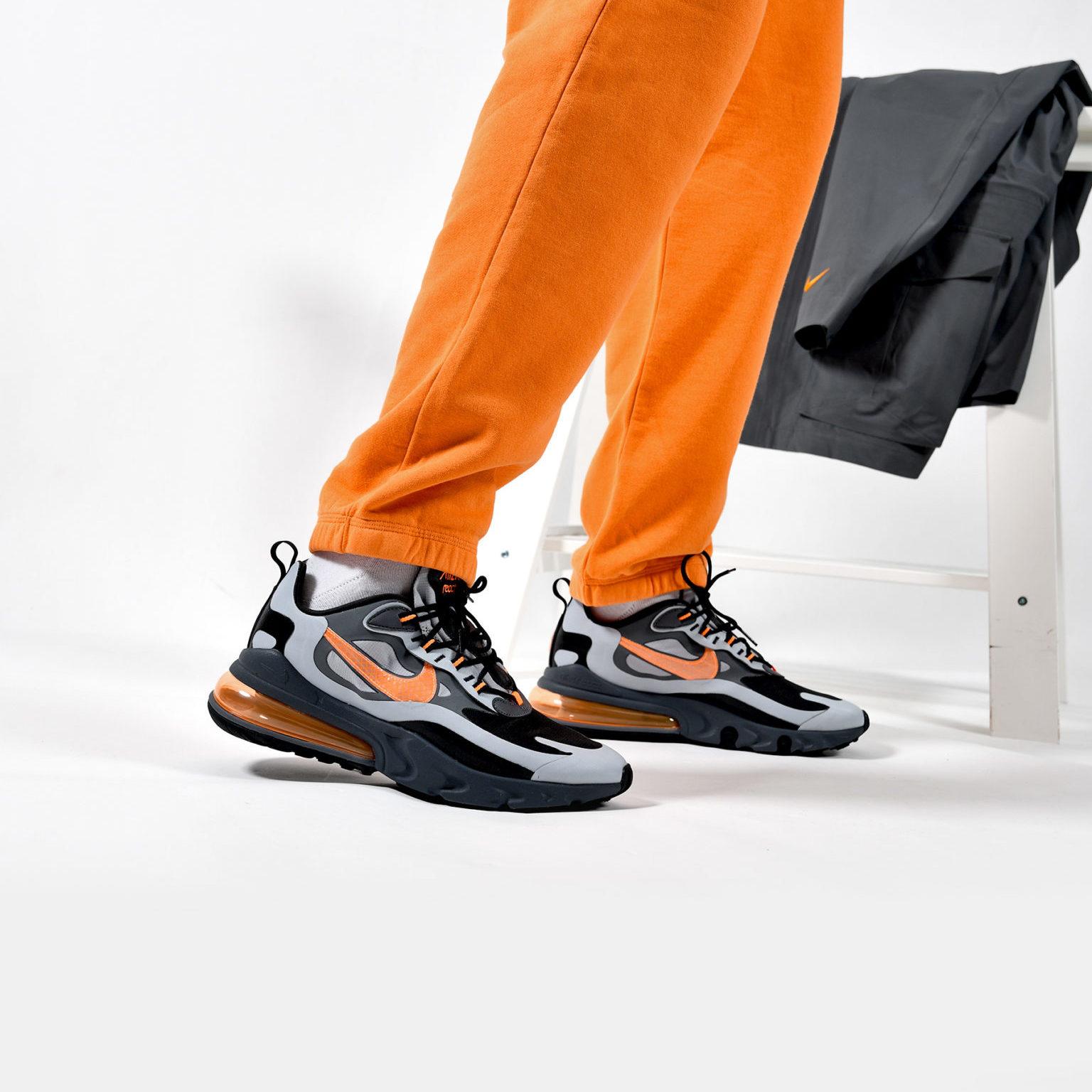 nike air max 270 react gris orange