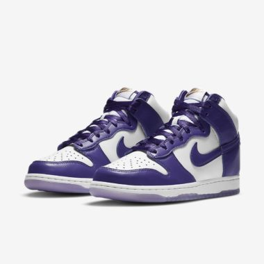 Nike W Dunk High White/Purple