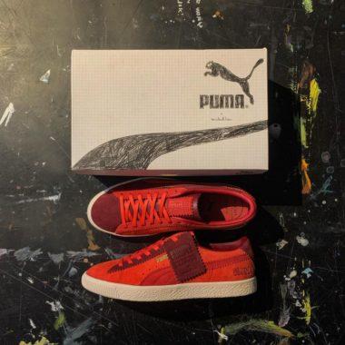 Michael Lau x Puma Suede VTG Poppy Red