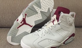 Air Jordan 6 Maroon avec le Nike Air