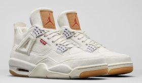 Levi's x Air Jordan 4 «White»
